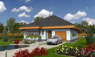 Pekný dom s garážou, terasou, podkrovím a izbou na prízemí
