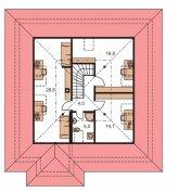 Pôdorys poschodia - BUNGALOW 37