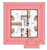 Zrkadlový obraz | Pôdorys poschodia - BUNGALOW 37