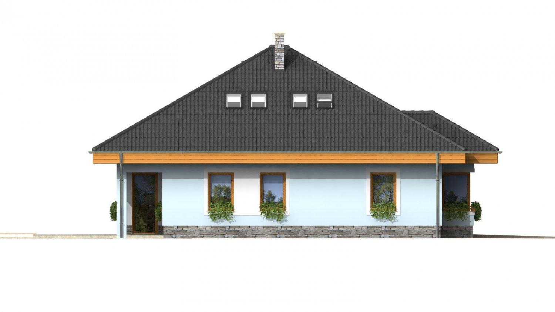 Pohľad 2. - Pekný dom s garážou, terasou, podkrovím a izbou na prízemí