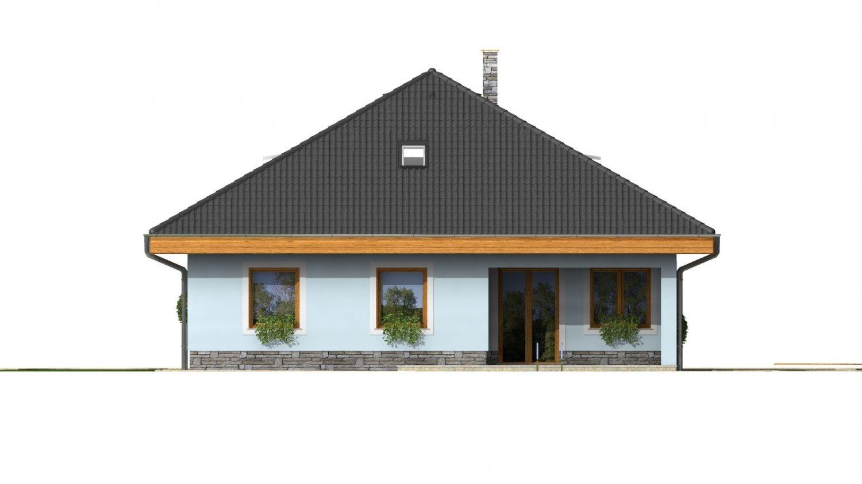 Pohľad 3. - Pekný dom s garážou, terasou, podkrovím a izbou na prízemí
