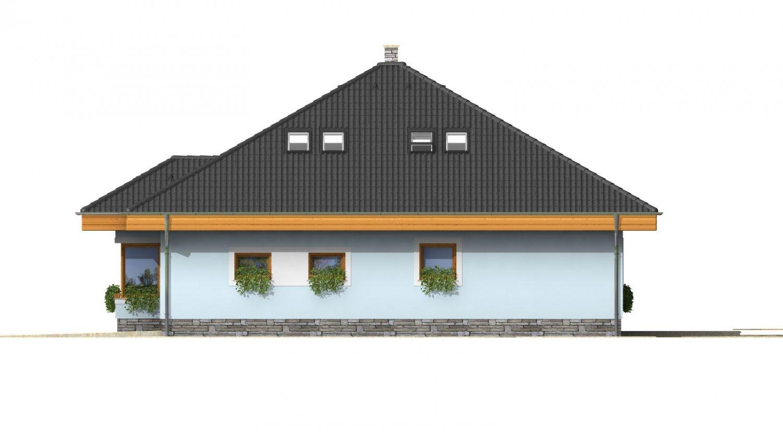 Pohľad 4. - Pekný dom s garážou, terasou, podkrovím a izbou na prízemí