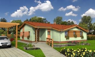 Zaujímavý projekt patrí k prízemným domom so sedlovými strechami