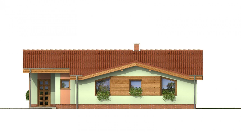 Pohľad 1. - Zaujímavý projekt patrí k prízemným domom so sedlovými strechami