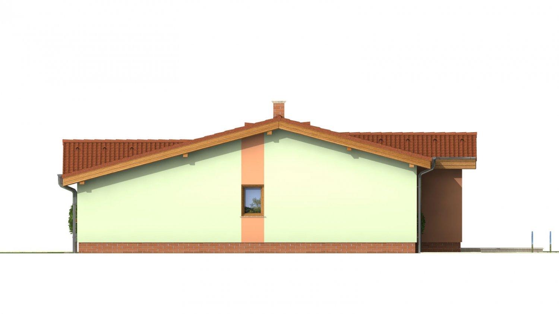 Pohľad 2. - Zaujímavý projekt patrí k prízemným domom so sedlovými strechami