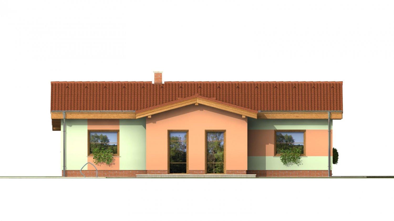 Pohľad 3. - Zaujímavý projekt patrí k prízemným domom so sedlovými strechami