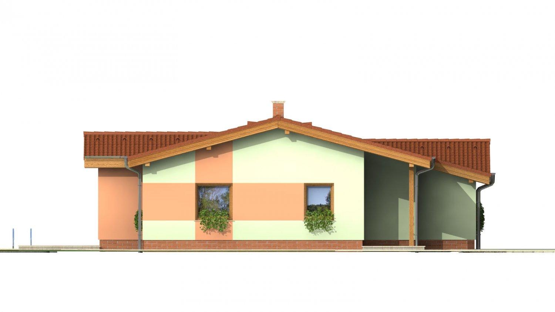 Pohľad 4. - Zaujímavý projekt patrí k prízemným domom so sedlovými strechami