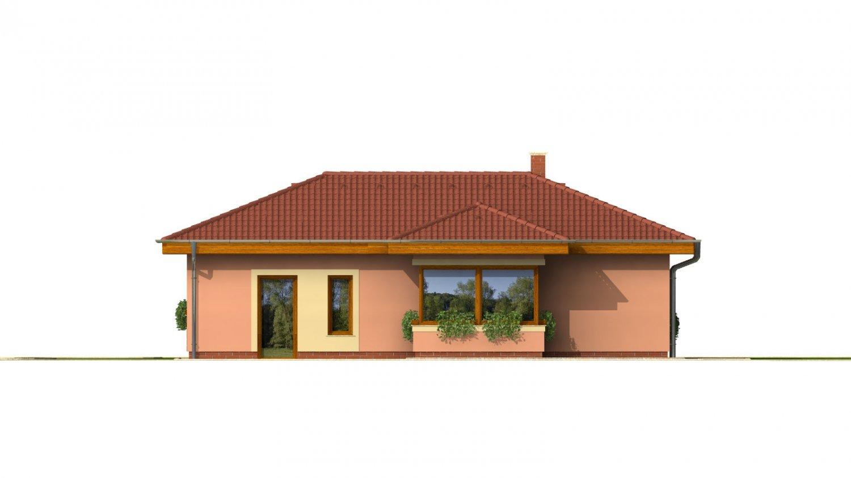 Pohľad 3. - Dom v tvare L s garážou.
