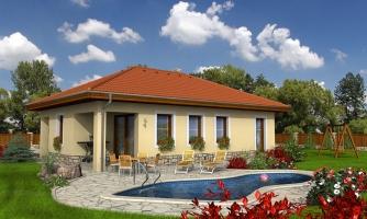 Dom do l s terasou a valbovou strechou