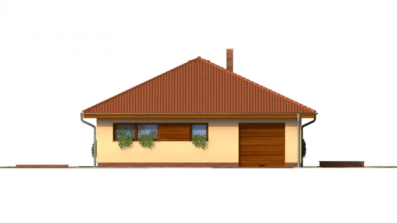 Pohľad 1. - Úžasný dom na užší pozemok s garážou.