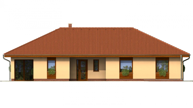 Pohľad 2. - Úžasný dom na užší pozemok s garážou.