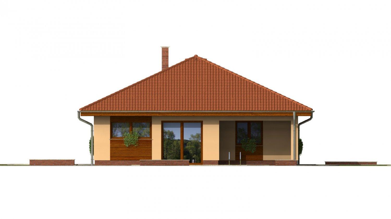 Pohľad 3. - Úžasný dom na užší pozemok s garážou.