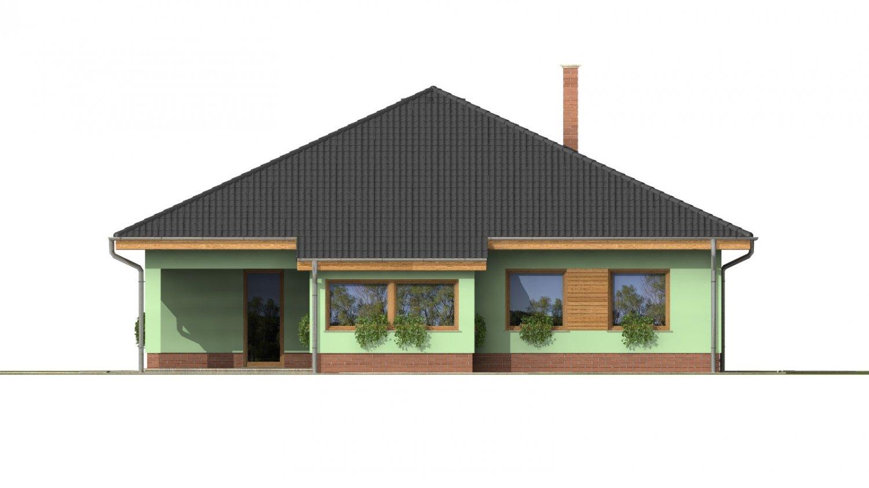 Pohľad 3. - Obľúbený dom s dvojgarážou.