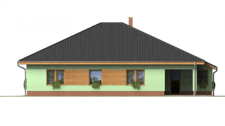 Pohľad 4. - Obľúbený dom s dvojgarážou.