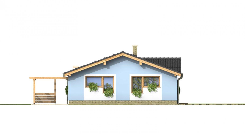 Pohľad 1. - Bezbariérový štvorizbový rodinný dom.