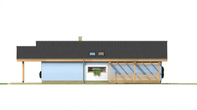 Pohľad 2. - Bezbariérový štvorizbový rodinný dom.