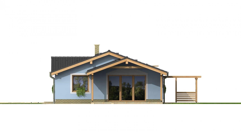 Pohľad 3. - Bezbariérový štvorizbový rodinný dom.