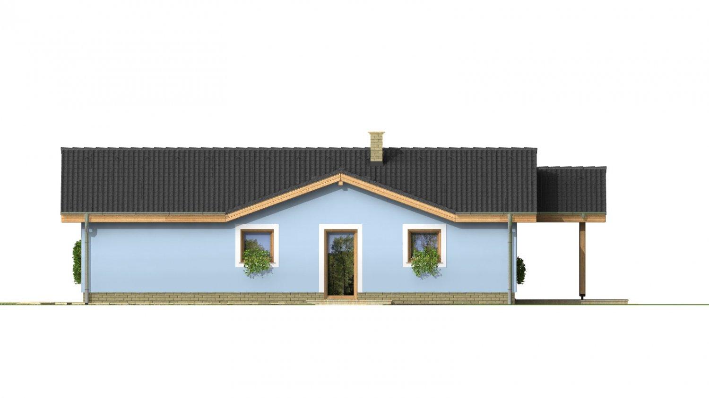 Pohľad 4. - Bezbariérový štvorizbový rodinný dom.