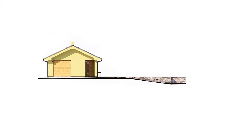 Pohľad 2. - Dom na veľmi úzky pozemok s garážou