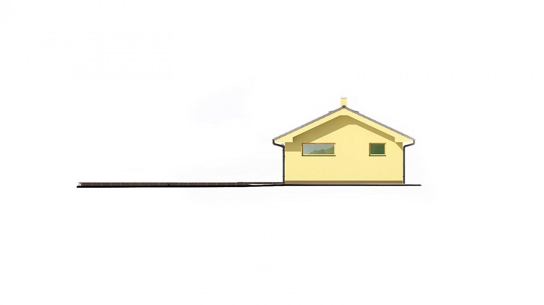 Pohľad 4. - Dom na veľmi úzky pozemok s garážou