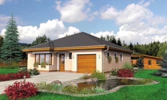 Jednoduchý projekt rodinného domu s garážou