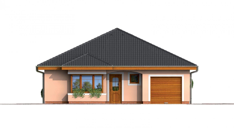 Pohľad 1. - Jednoduchý projekt rodinného domu s garážou.