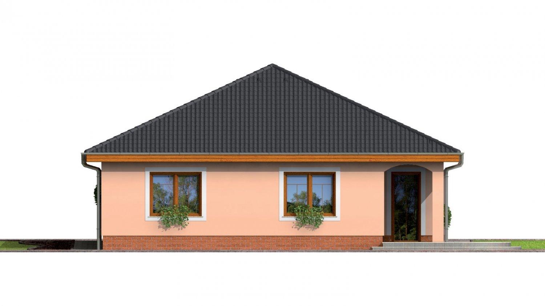 Pohľad 3. - Jednoduchý projekt rodinného domu s garážou.
