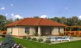 Projekt domu do tvaru L s terasou