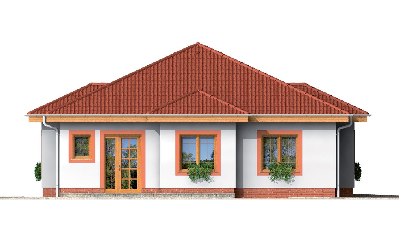 Pohľad 1. - 4-izbový dom so stanovou strechou.