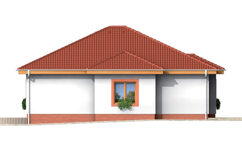 Pohľad 2. - 4-izbový dom so stanovou strechou.
