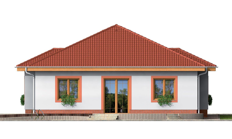 Pohľad 3. - 4-izbový dom so stanovou strechou.