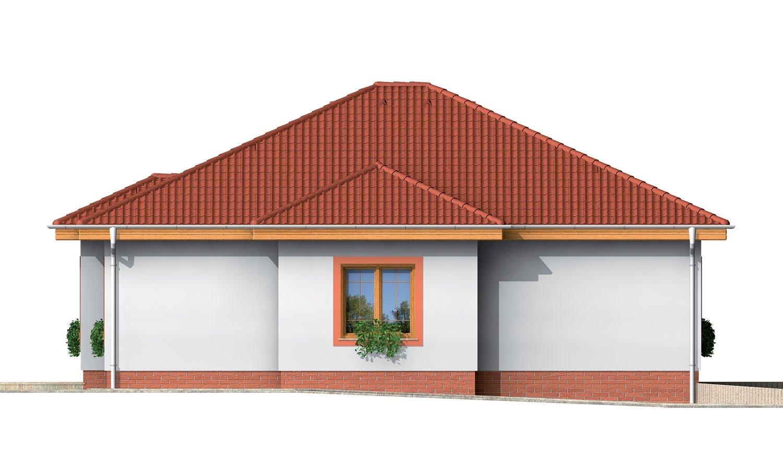Pohľad 4. - 4-izbový dom so stanovou strechou.
