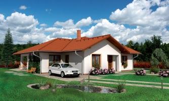 Dom so zaujímavými strechami