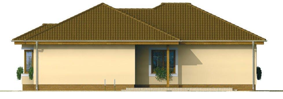 Pohľad 3. - Prízemný 4-izbový rodinný dom.
