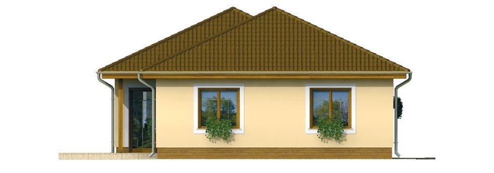 Pohľad 4. - Prízemný 4-izbový rodinný dom.