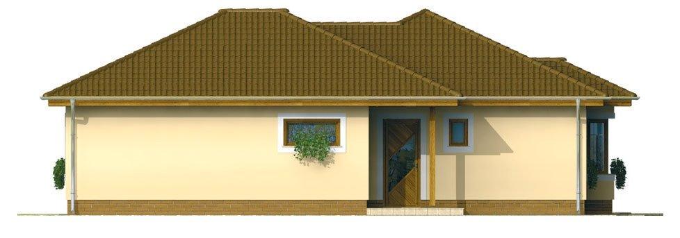Pohľad 1. - Prízemný 4-izbový rodinný dom.