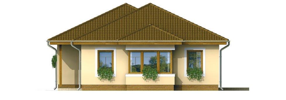 Pohľad 2. - Prízemný 4-izbový rodinný dom.