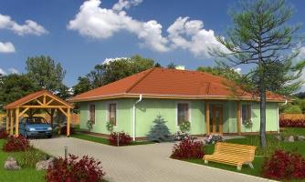 Klasický projekt rodinného domu s valbovými strechami, vhodný aj na užší pozemok