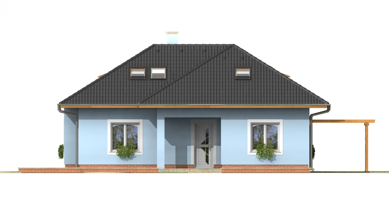 Pohľad 1. - Domček s obytným podkrovím