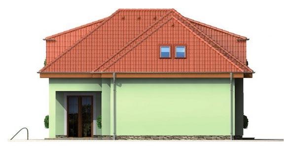 Pohľad 2. - Veľký rodinný dom s garážou.