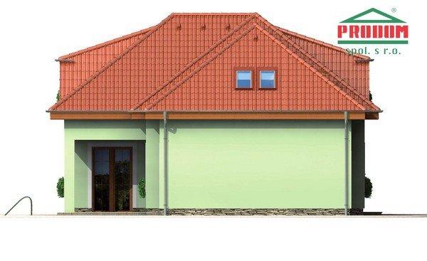 Pohľad 1. - Veľký rodinný dom s garážou