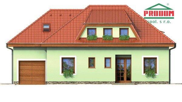 Pohľad 2. - Veľký rodinný dom s garážou