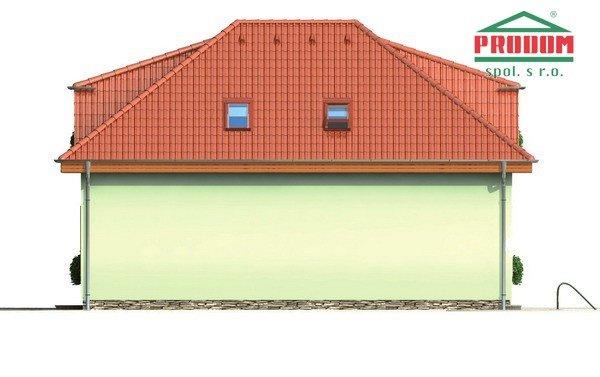 Pohľad 3. - Veľký rodinný dom s garážou