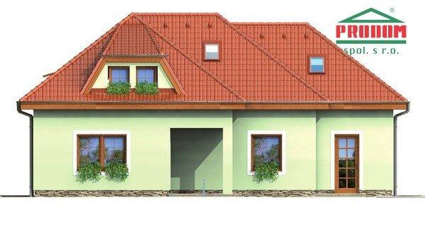 Pohľad 4. - Veľký rodinný dom s garážou