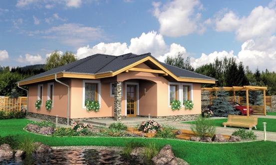 projekt domu BUNGALOW 68