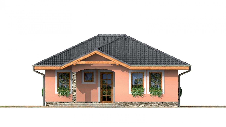 Pohľad 1. - Prízemný rodinný dom pre menšiu rodinu.