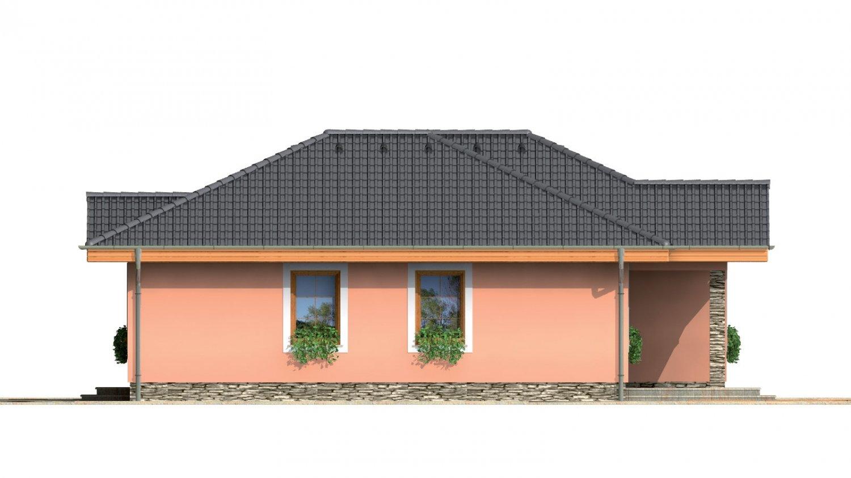 Pohľad 2. - Prízemný rodinný dom pre menšiu rodinu.
