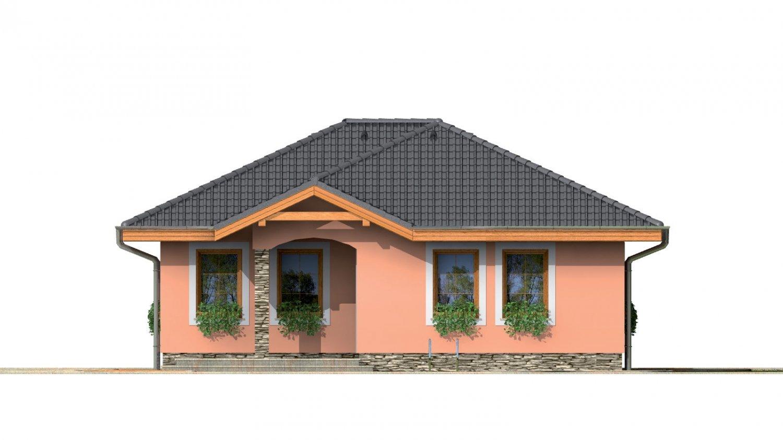 Pohľad 3. - Prízemný rodinný dom pre menšiu rodinu.