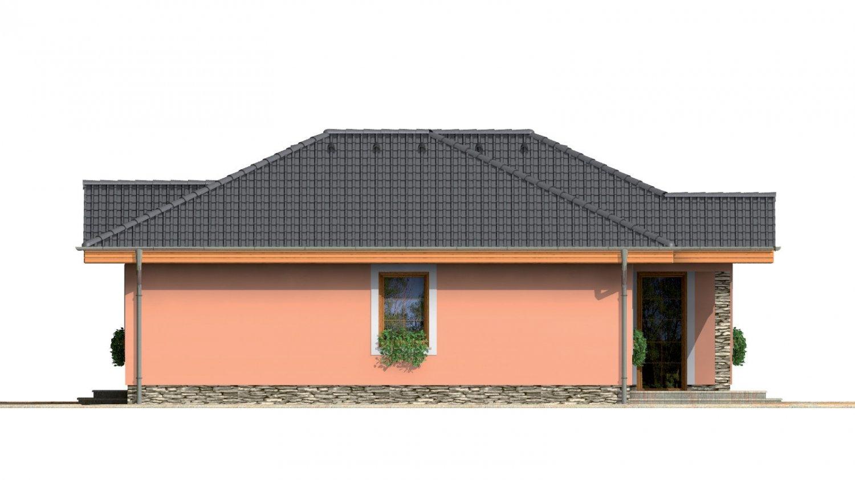 Pohľad 4. - Prízemný rodinný dom pre menšiu rodinu.