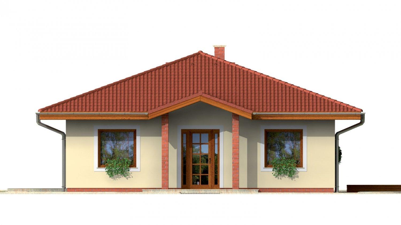 Pohľad 1. - Rodinný dom so stanovou strechou.